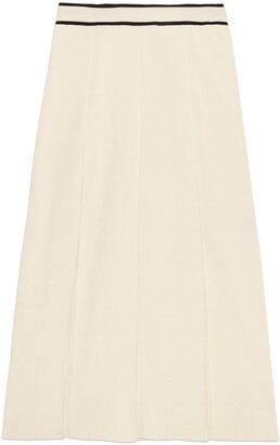 Gucci Fine viscose pleated midi skirt