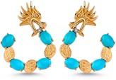 Dragon Optical Selda Jewellery Lady Turquoise Hoop Earring