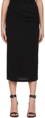 Helmut Lang Black Twist Skirt