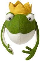 Fiona Walker England Frog Prince Head Wall Mount, Green