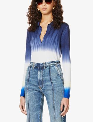 Gabriela Hearst Elaine tie-dye cashmere top