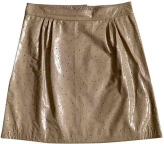 Fendi Beige Leather Skirt for Women