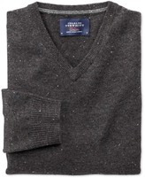 Charles Tyrwhitt Charcoal Donegal v-neck sweater