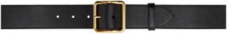 Alexander McQueen Black Leather Belt