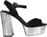 Dolce & Gabbana Rhinestones Platform Sandals