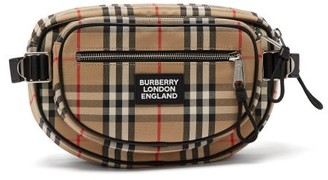 Burberry Vintage Check Canvas Backpack - Mens - Multi