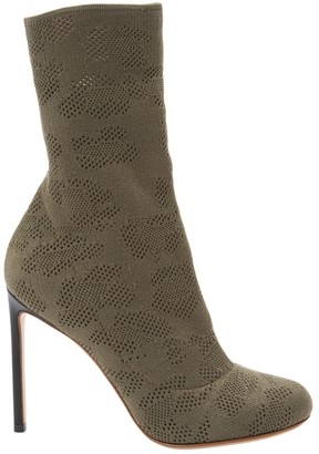 Francesco Russo Khaki Cloth Boots