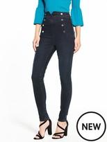 Karen Millen Corset High Waisted Skinny Jean