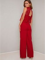 Chi Chi London Anastasia Lace Top Jumpsuit