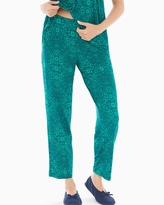 Soma Intimates Ankle Pajama Pants Illumination Green Envy