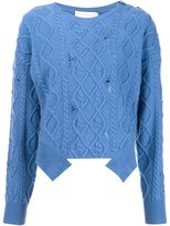 Stella McCartney distressed cable knit jumper
