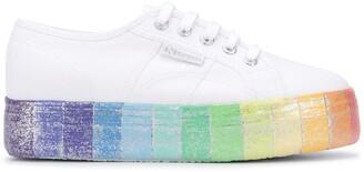 Superga Rainbow-Sole Platform Sneakers