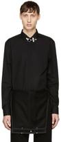Givenchy Black Firemen Collar Shirt