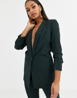 Asos Design DESIGN mix & match suit blazer-Green