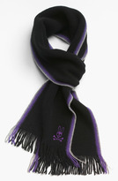 Psycho Bunny 'Side Stripes' Lambswool Scarf