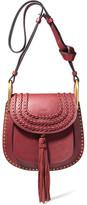 Chloé Hudson Small Whipstitched Leather Shoulder Bag - Claret