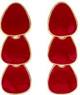 Kenneth Jay Lane Enamel Tiered Drop Earrings