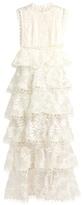 Zimmermann Winsome Tier Vine embroidered silk-organza gown