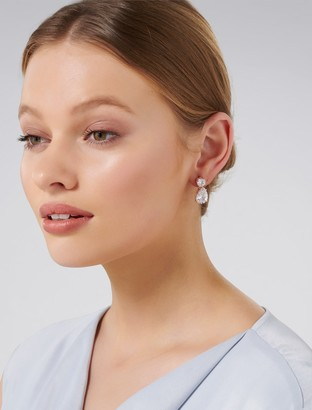 Forever New Bee Large Double Cubic Zirconia Drop Earrings - Rose Gold - 00