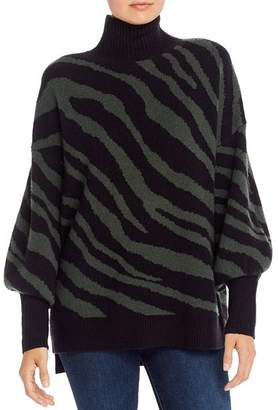 French Connection Oversized Tiger Jacquard Sweater