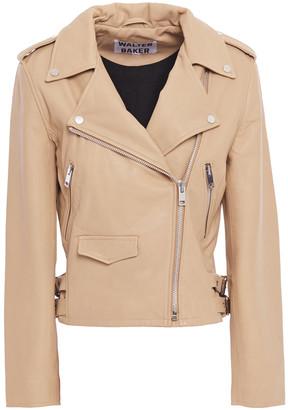 Walter Baker Amber Leather Biker Jacket