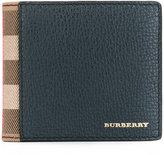 Burberry housecheck detail bi-fold wallet - men - Cotton/Calf Leather/Viscose - One Size