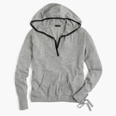 J.Crew Tipped hoodie in Italian featherweight cashmere