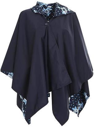 Capelli New York Women's Rain Coats NAVY - Navy Reversible Rain Poncho - Women