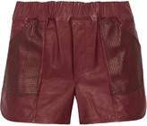 A.L.C. Parker leather shorts