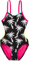 INTERNATIONAL ASSORTED BRANDS Big Chill Palm One-Piece Monokini Swimsuit - Girls 7-16