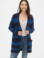 Gap Longline Stripe Open-Front Cardigan Sweater