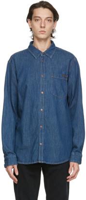 Nudie Jeans Blue Denim Albert Mid Worn Shirt