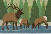 "Liora Manné Front Porch Indoor/Outdoor Elk Forest 2'3"" x 6' Runner Rug"
