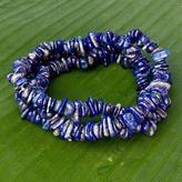 Set of 3 Handcrafted Lapis Lazuli Beaded Stretch Bracelets, 'Ipanema Ocean'