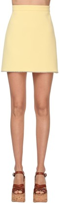 Miu Miu Faille Cady Mini Skirt W/crystals