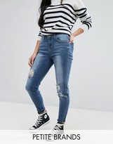 New Look Petite Distressed Skinny Jeans