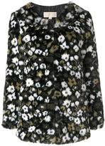 Michael Kors printed fur coat - women - Acrylic/Modacrylic/Polyester - XS
