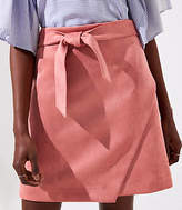 LOFT Tall Faux Suede Wrap Skirt