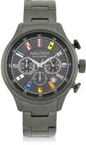 Nautica NCT 16 Brushed Gunmetal Stainless Steel Men's Chronograph Watch