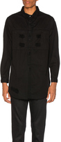 Stampd Distressed Denim Shirt in Black.
