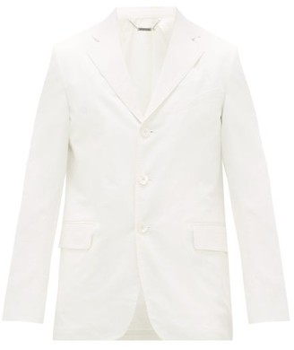 Givenchy Single-breasted Triple-button Cotton Suit Jacket - White