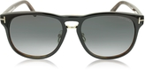Tom Ford FRANKLIN FT0346 01V Dark Brown Aviator Sunglasses