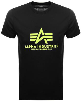 Alpha Industries Basic Logo T Shirt Black