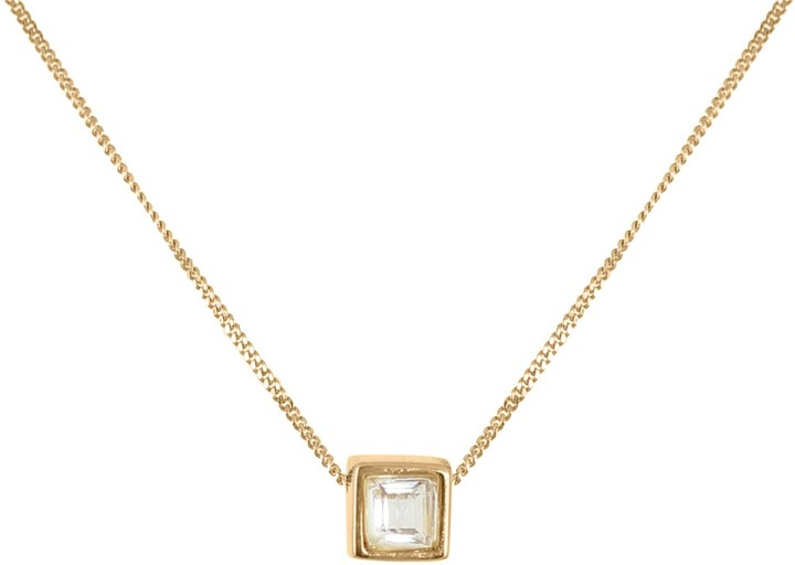 Lee Renee White Tourmaline Square Cut Necklace