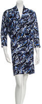 Balenciaga Printed Dolman Sleeve Dress