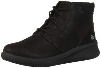 Clarks Women's Sillian 2.0 Way Ankle Boot Black Synthetic Nubuck 85 W US