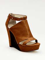 KORS Lara Half-Wood Wedge Sandals