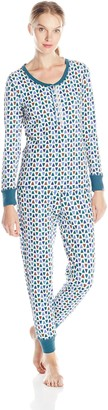 Jane & Bleecker Women's Thermal Long Jane Pajama Gift Set