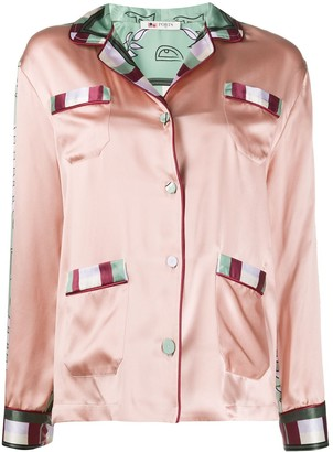 Ports 1961 Long Sleeve Silk Shirt Jacket
