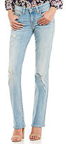 True Religion Billie Distressed Low-Rise Straight Jeans